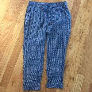 Old Navy pants blue and white large